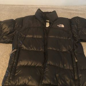 Women's north face shiny nuptse jacket